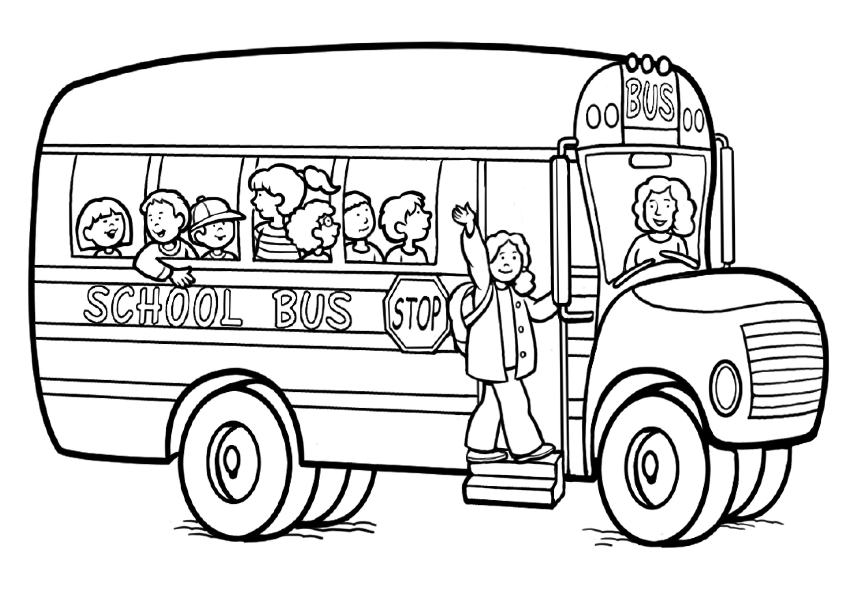 Free Printable School Bus Coloring Pages For Kids - Free Printable School Bus Coloring Pages