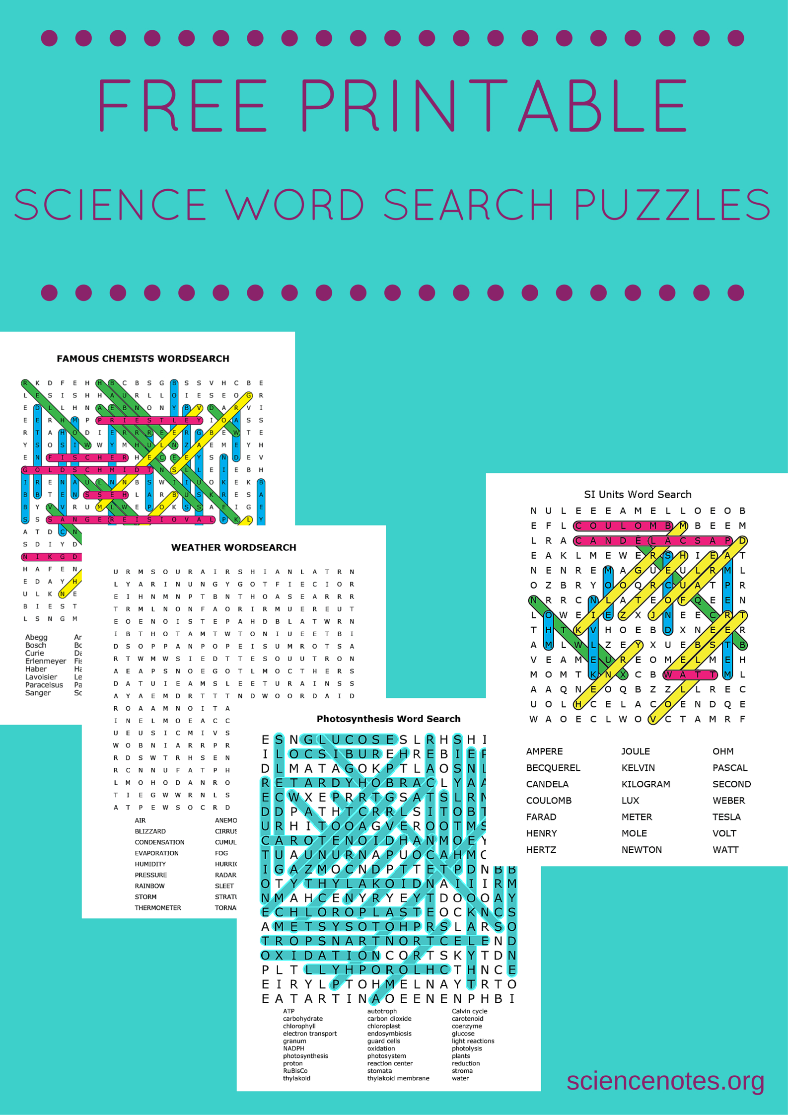 Free Printable Science Word Search Puzzles - Free Printable Science Crossword Puzzles