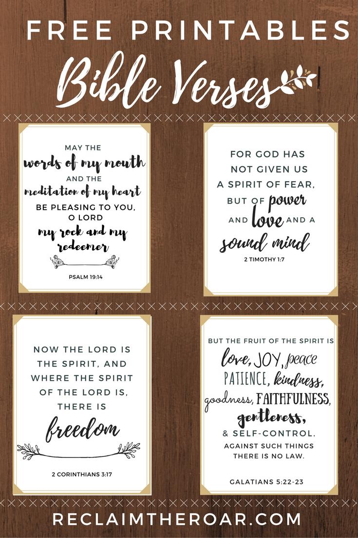 Free Printable Scriptures   Words   Printable Bible Verses, Bible - Free Printable Scripture Verses