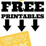 Free Printable   Send A Box Of Sunshine To Brighten Someones Day   Box Of Sunshine Free Printable
