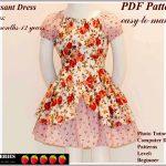 Free Printable Sewing Patterns | Alexandra Girls Dress Sewing   Free Printable Toddler Dress Patterns