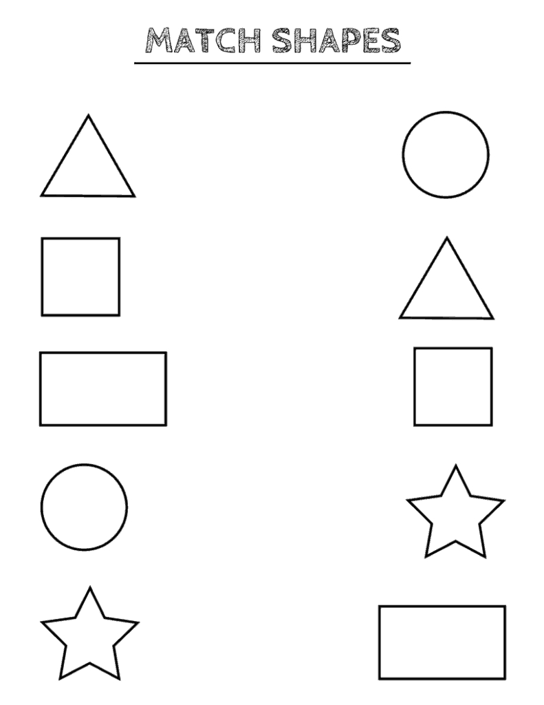 Free Printable Shapes Worksheets For Toddlers And Preschoolers - Free Printables For Kindergarten