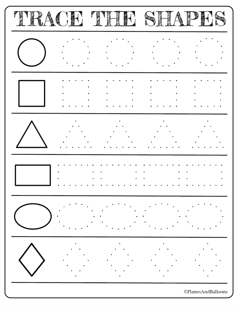 Free Printable Shapes Worksheets For Toddlers And Preschoolers - Shapes Worksheets Printable Free