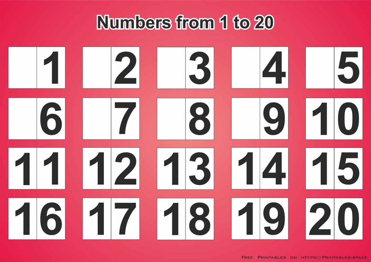 Free Printable Sheet For Learning Numbers From 1 To 20 - Free Printables - Free Printable Numbers 1 20