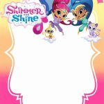 Free Printable Shimmer And Shine Invitation Card | 4Th Birthday In   Shimmer And Shine Free Printables