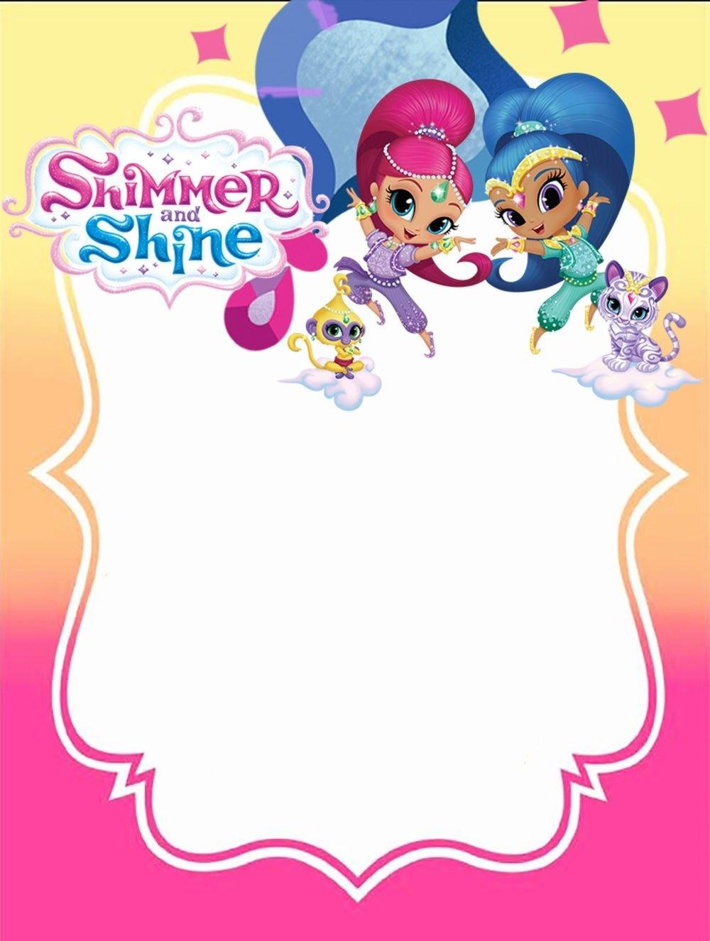 Free Printable Shimmer And Shine Invitation Card | 4Th Birthday In - Shimmer And Shine Free Printables