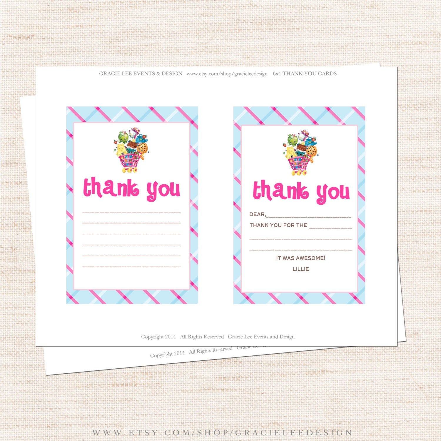 Free Printable Shopkins Thank You Card Halegrafx - Oukas - Shopkins Thank You Cards Free Printable