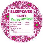 Free Printable Sleepover Party Invitations   Hundreds Of Slumber   13Th Birthday Party Invitations Printable Free