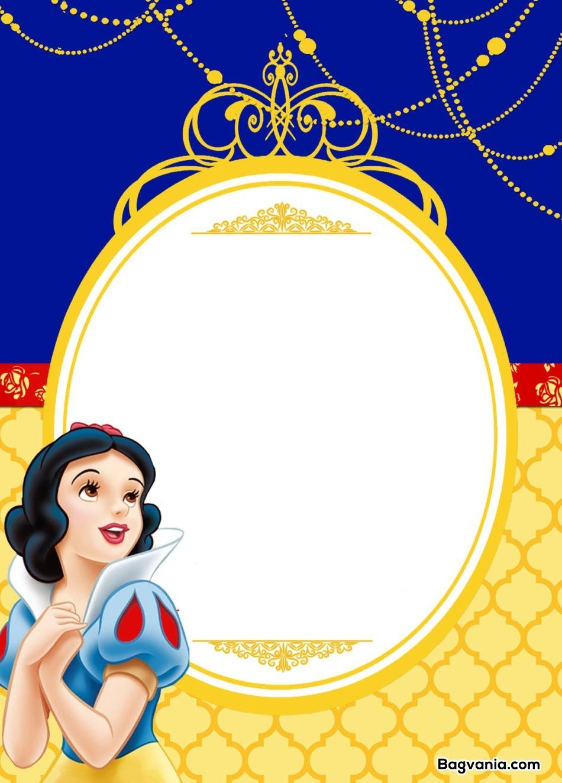 Free Printable Snow White Birthday Invitations – Bagvania Free - Snow White Invitations Free Printable