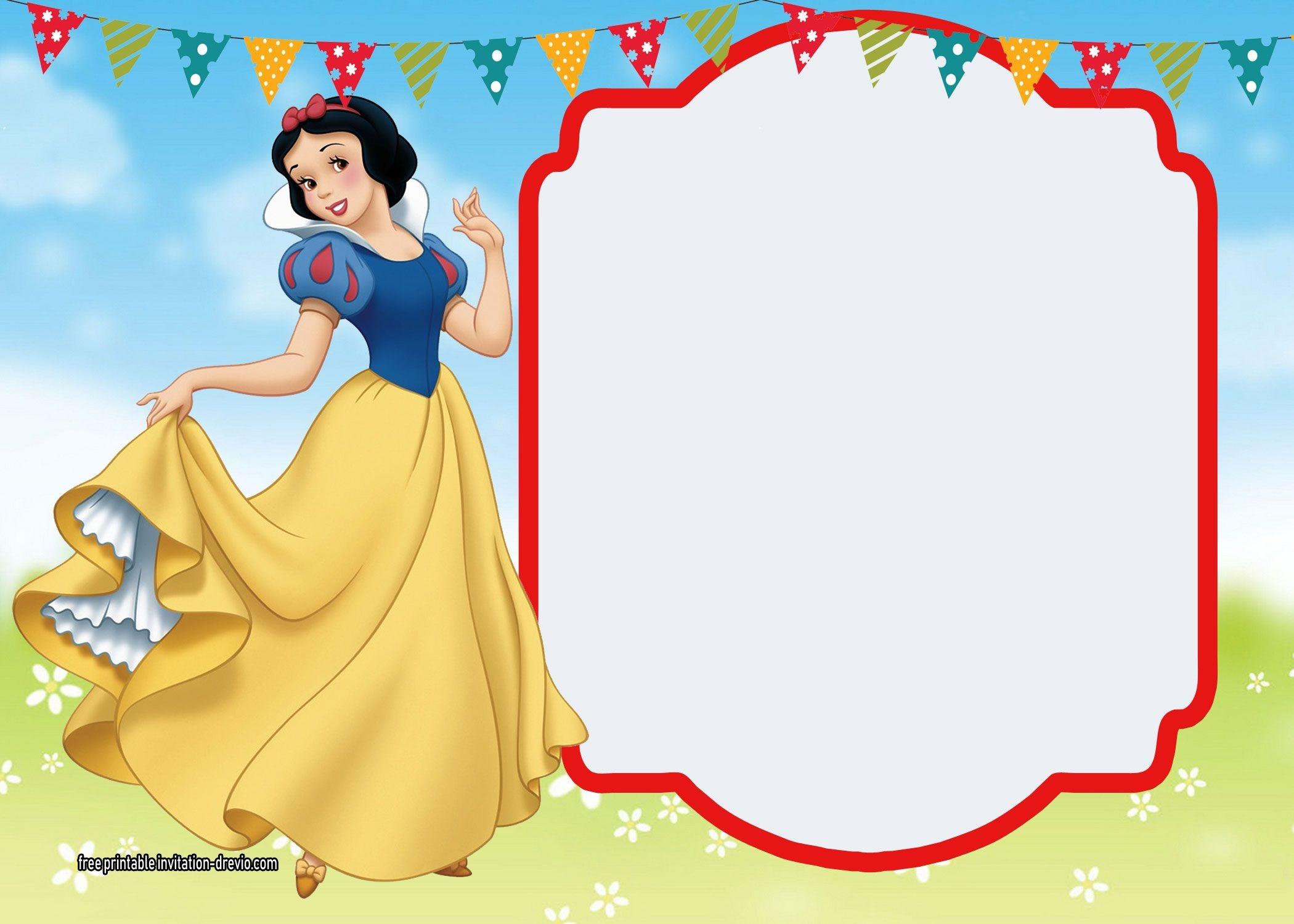 Free Printable Snow White Invitations - Complete Edition | Snow - Snow White Invitations Free Printable
