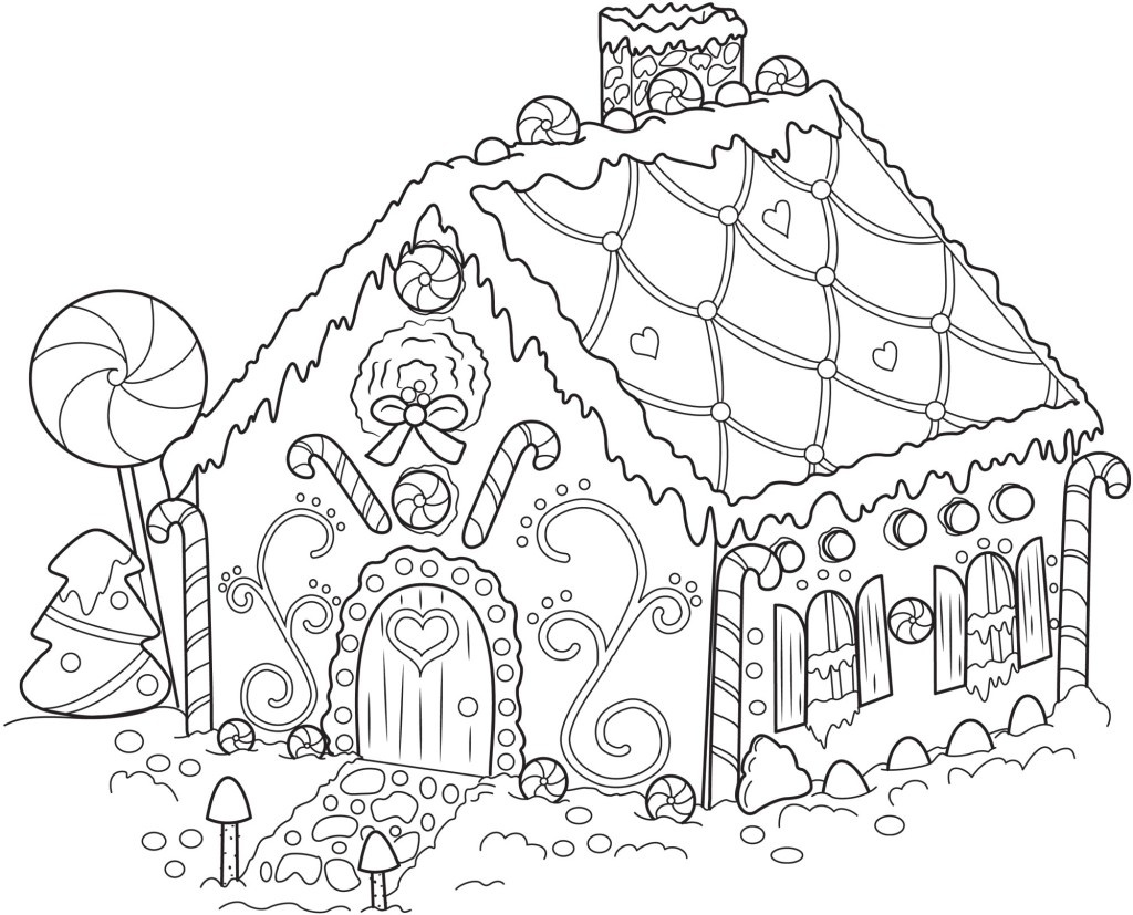 Free Printable Snowflake Coloring Pages For Kids - Free Printable Gingerbread House