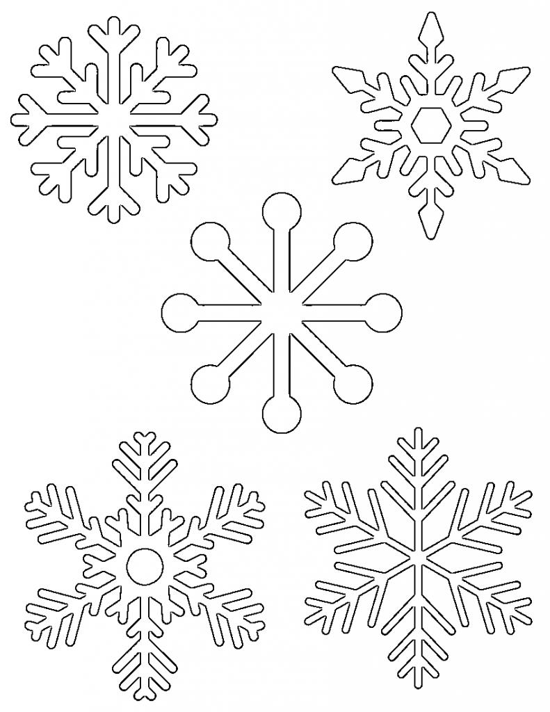 Free Printable Snowflake Templates – Large & Small Stencil Patterns - Free Printable Snowflake Patterns