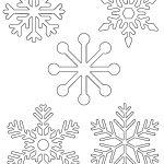 Free Printable Snowflake Templates – Large & Small Stencil Patterns   Snowflake Template Free Printable