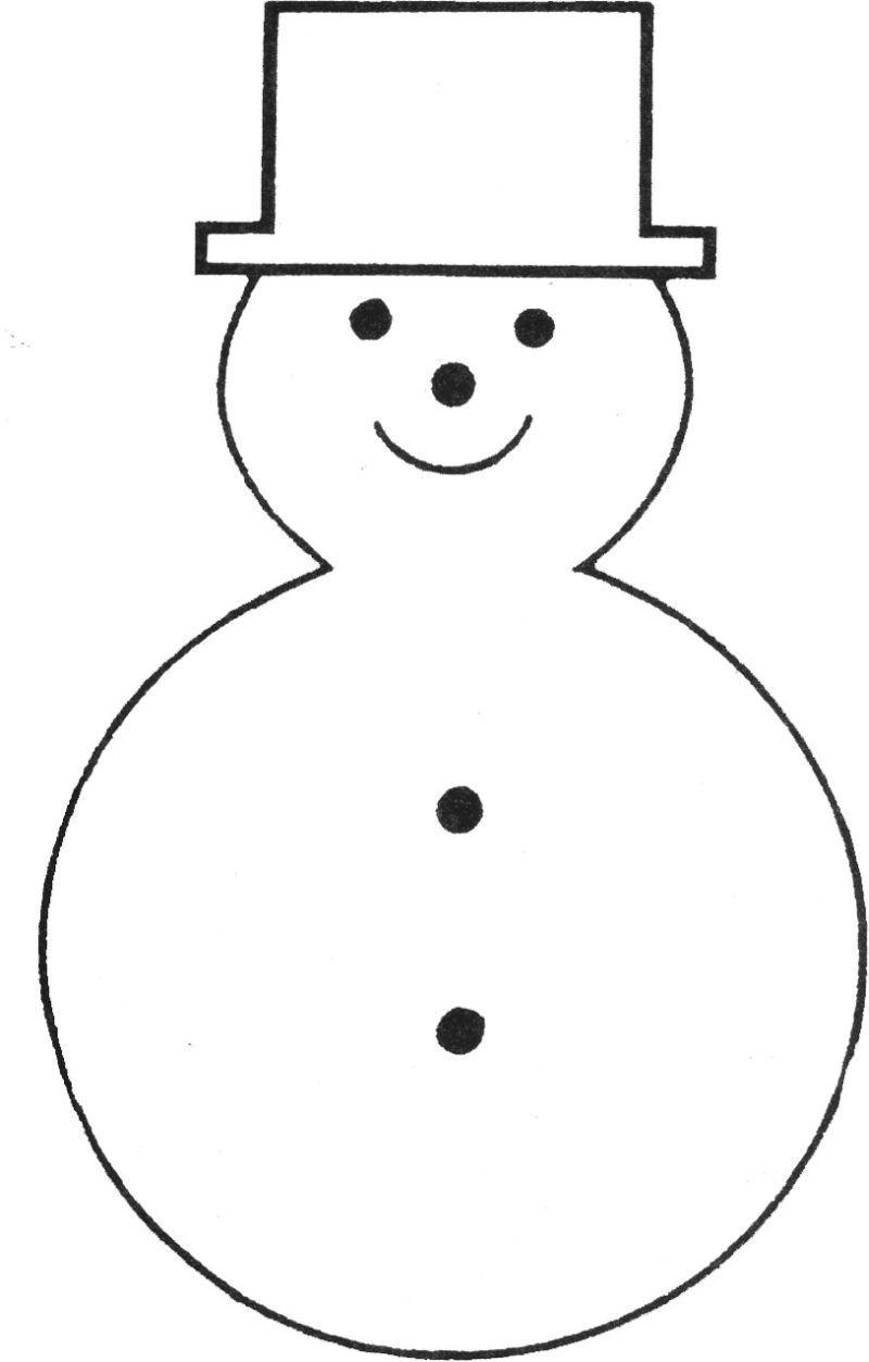 Free Printable Snowman Template | Teaching Ideas | Felt Christmas - Free Printable Snowman Face Stencils