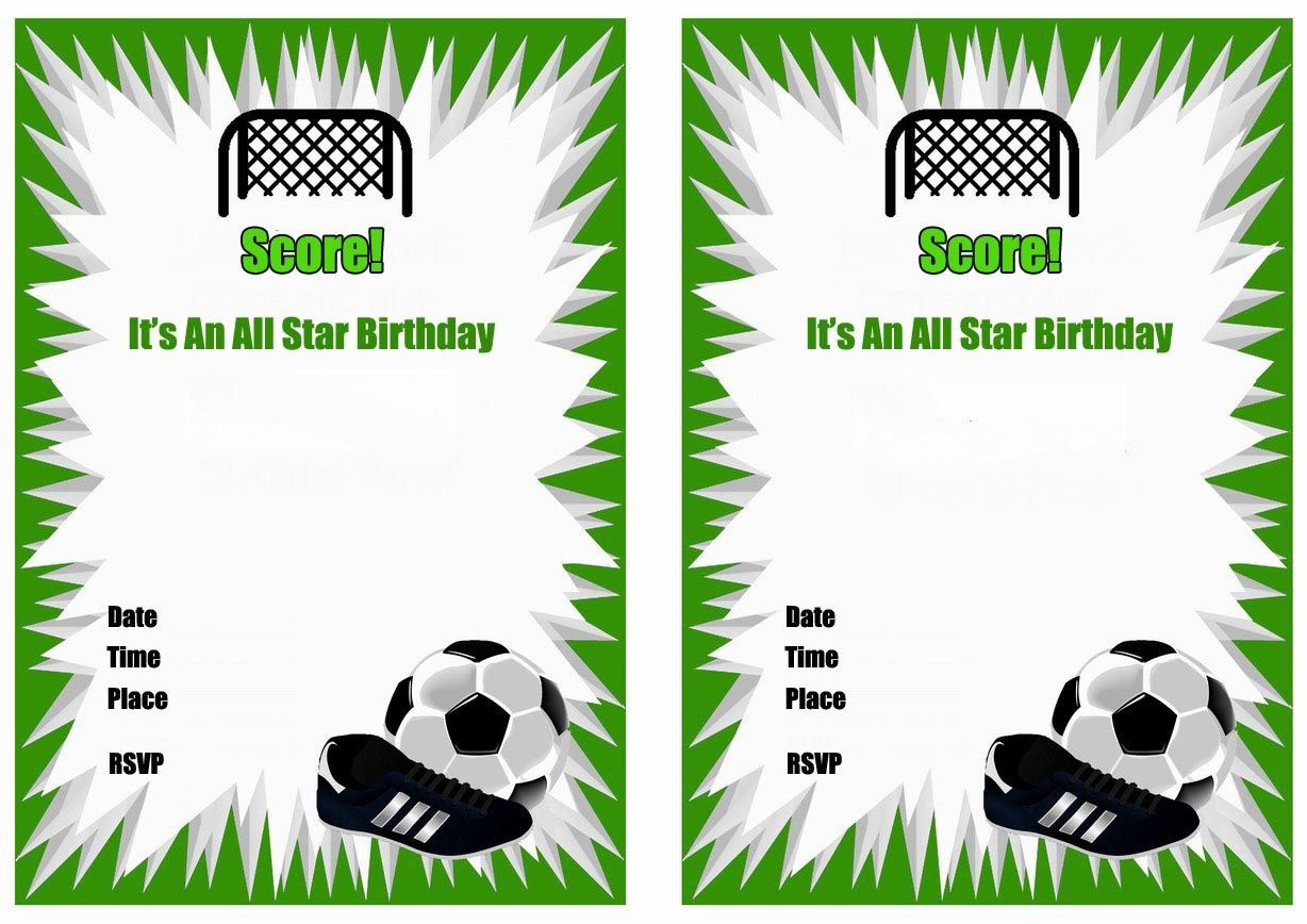 Free Printable Soccer Birthday Party Invitations | Arzis Favorite - Free Printable Soccer Birthday Invitations