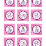 Free Printable Sofia The First Birthday Invitations. Printable   Sofia The First Cupcake Toppers Free Printable