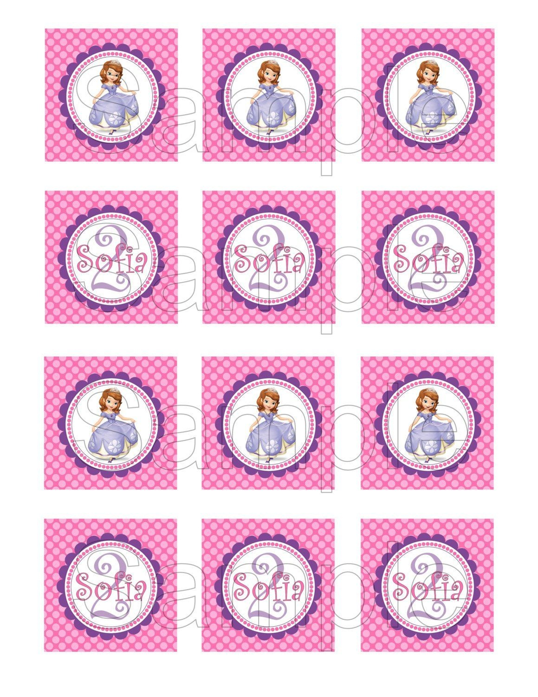 Free Printable Sofia The First Birthday Invitations. Printable - Sofia The First Cupcake Toppers Free Printable