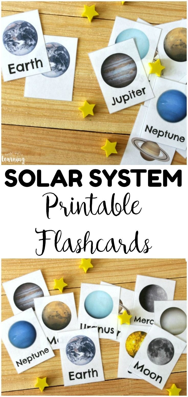 Free Printable Solar System Flashcards | Homeschooling | Kids - Free Printable Solar System Flashcards