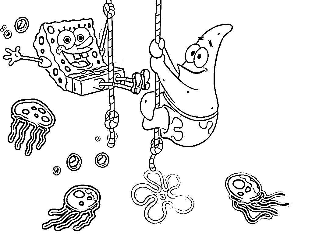 Free Printable Spongebob Squarepants Coloring Pages For Kids - Spongebob Squarepants Coloring Pages Free Printable