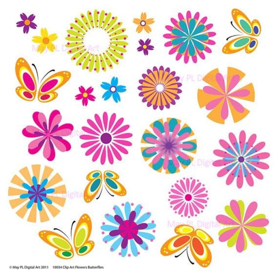 Free Printable Spring Flowers Clip Art N3 Free Image - Free Printable Flowers