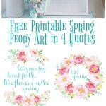 Free Printable Spring Peony Art & Easter Art | The Happy Housie   Free Printable Flowers