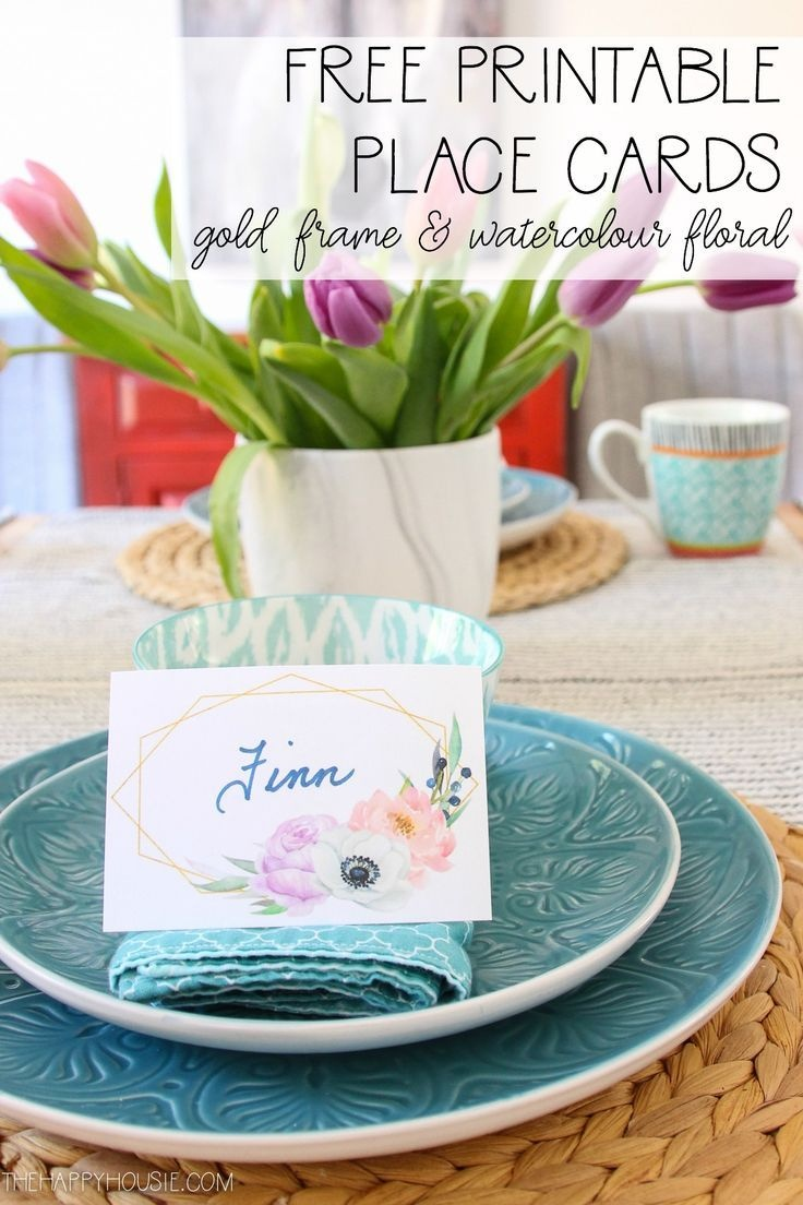 Free Printable Spring Watercolour Bohemian Floral Place Cards - Free Easter Place Cards Printable