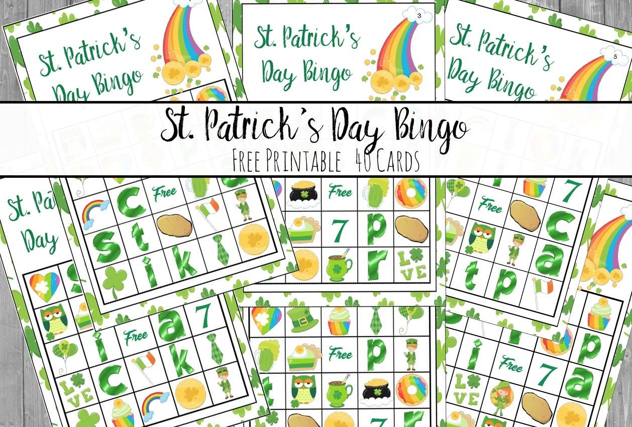 Free Printable St. Patrick's Day Bingo: 40 Cards - Free Printable St Patrick's Day Card