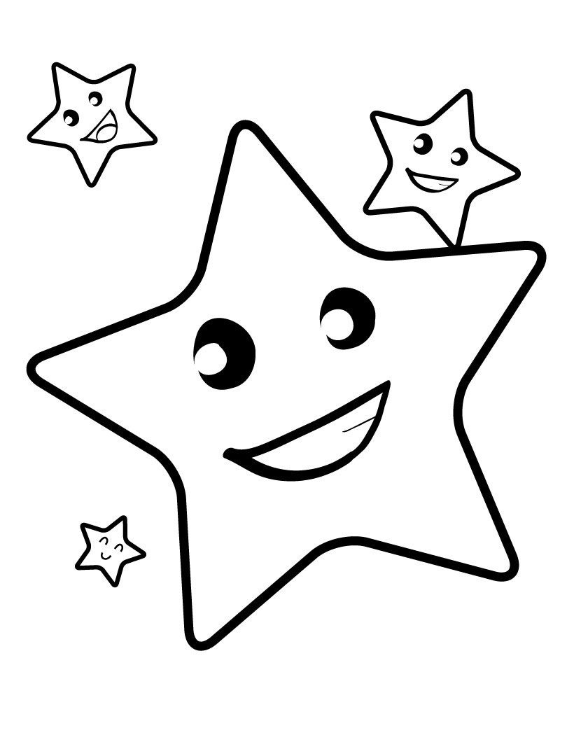 Free Printable Star Coloring Pages For Kids   4 Kids Coloring Pages - Free Printable Coloring Books For Toddlers