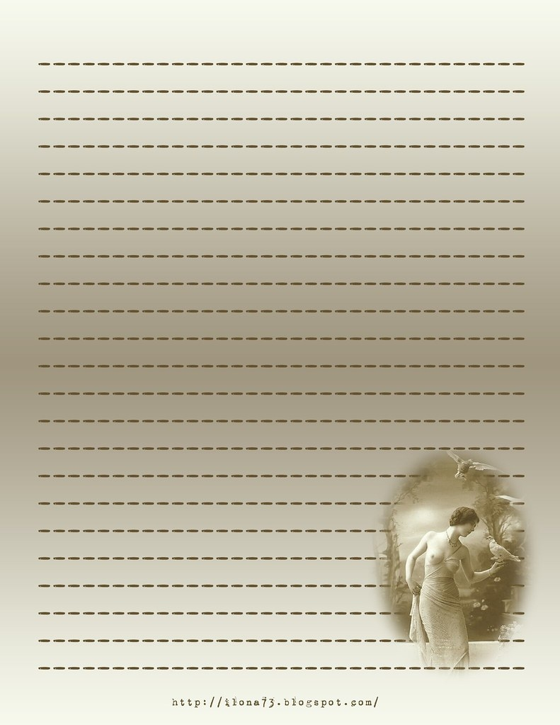 Free Printable Stationary - Vintage Goddess | Anyone May Pri… | Flickr - Free Printable Vintage Stationary