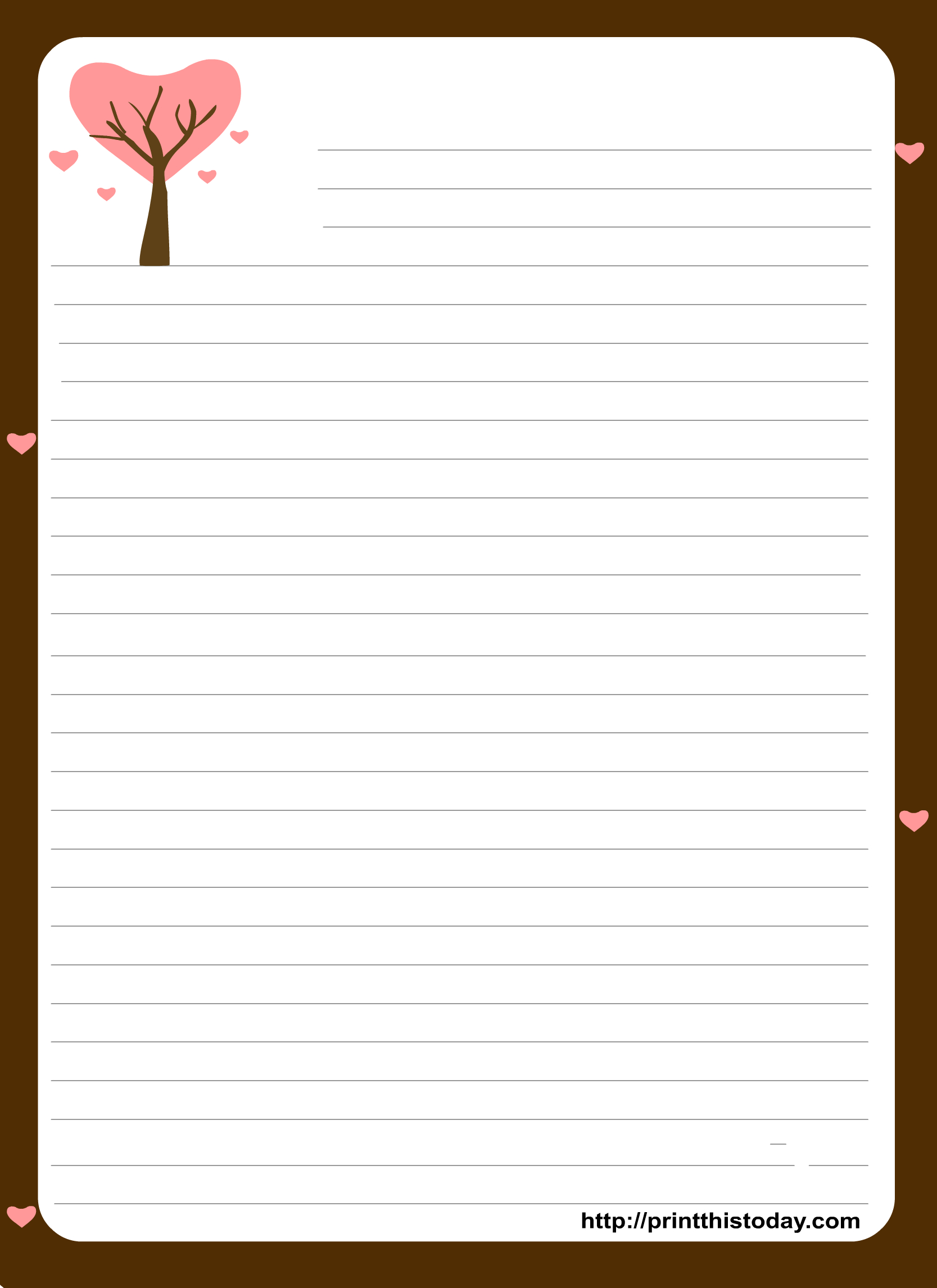 Free Printable Stationery Paper | Free Printable Stationary With - Free Printable Notebook Paper