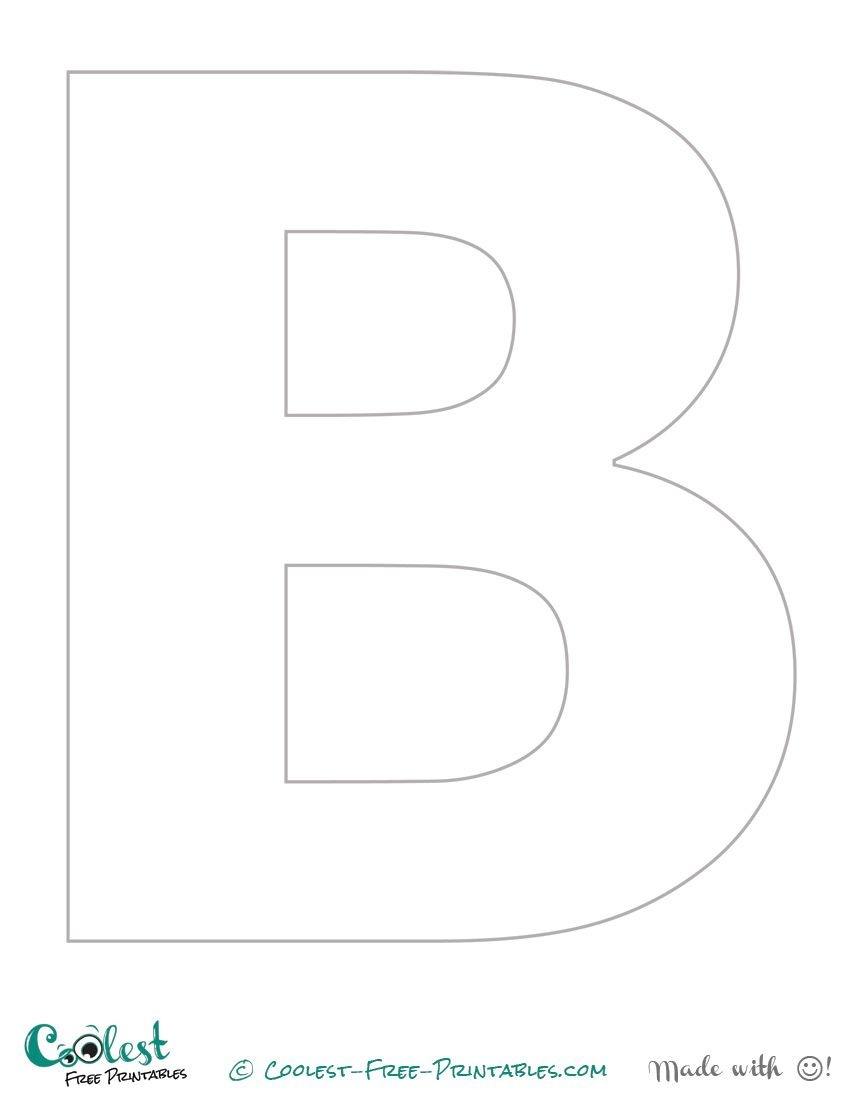"""Free Printable Stencil Letters - The Letter """"b""""   Crafts   Letter - Free Printable Letters For Bulletin Boards"""