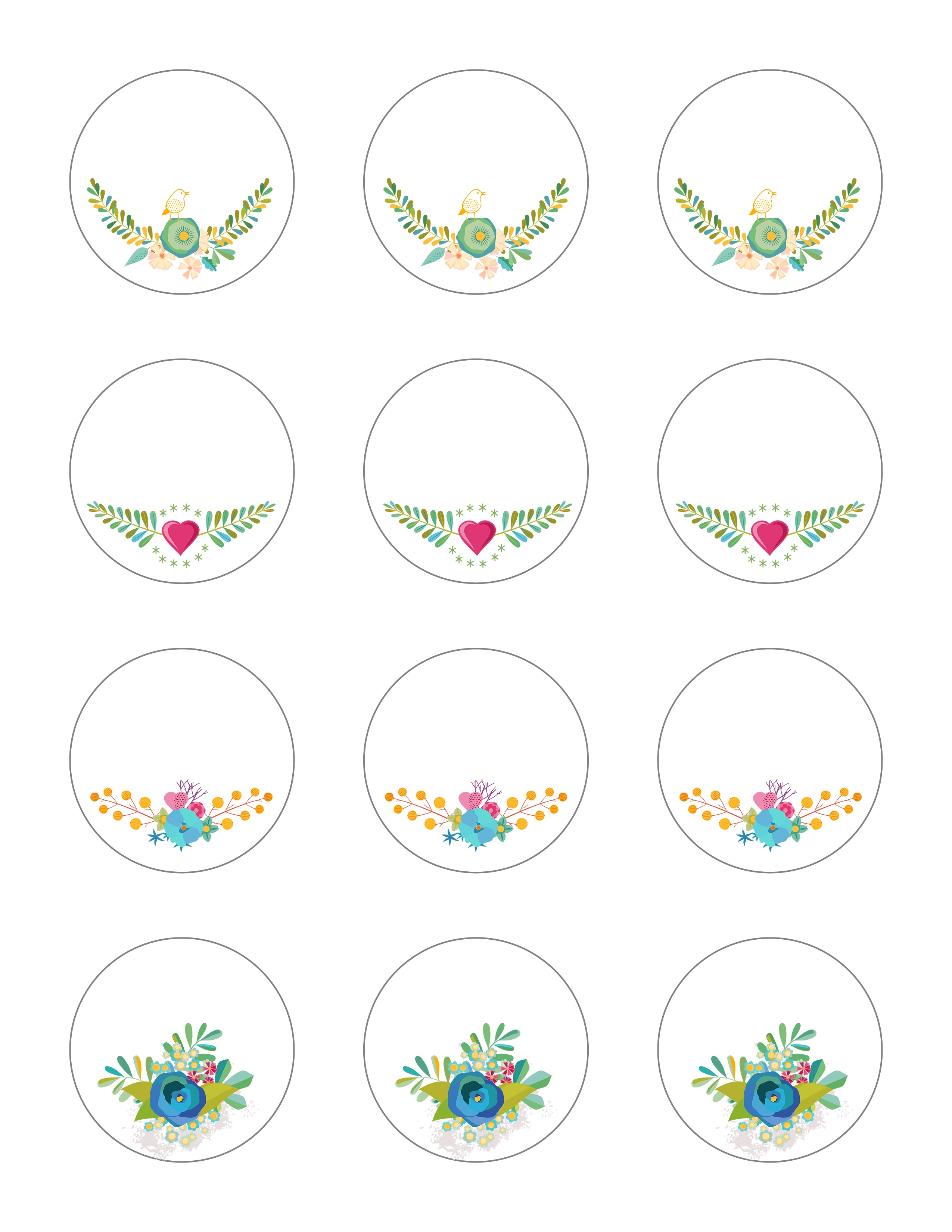 Free Printable Stickers - Spring Time Floral Labels - The Graffical Muse - Free Printable Floral Labels