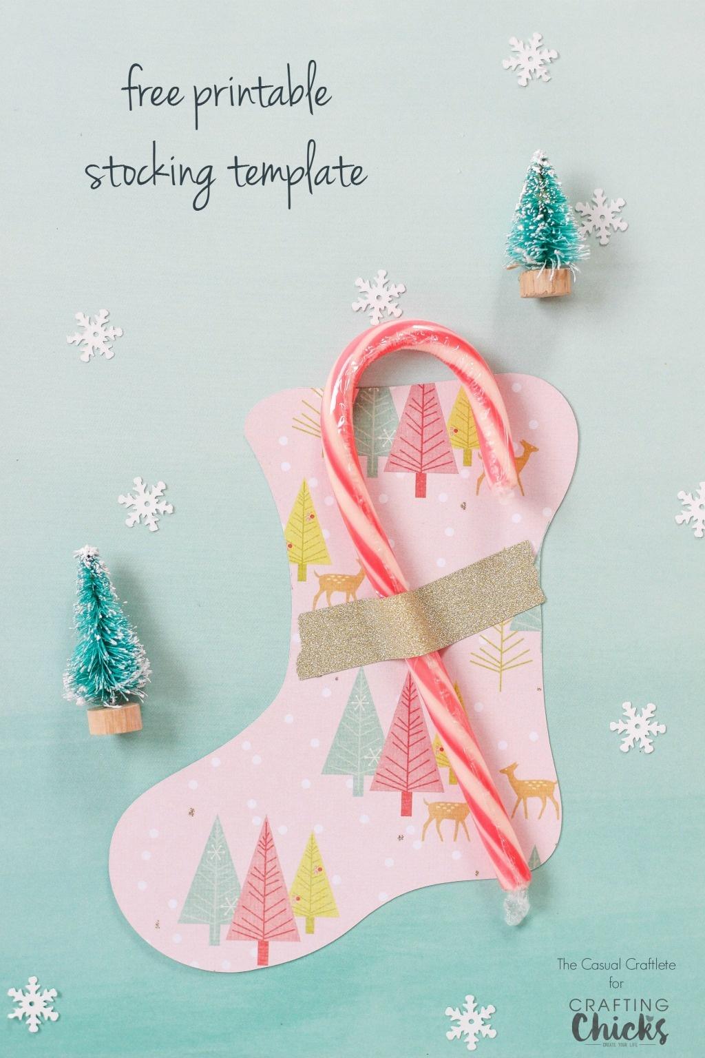 Free Printable Stocking Template - Free Printable Christmas Stocking Template