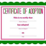 Free Printable Stuffed Animal Adoption Certificate | Free Printables   Free Printable Adoption Certificate
