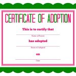 Free Printable Stuffed Animal Adoption Certificate | Free Printables   Free Printable Birth Certificates For Puppies