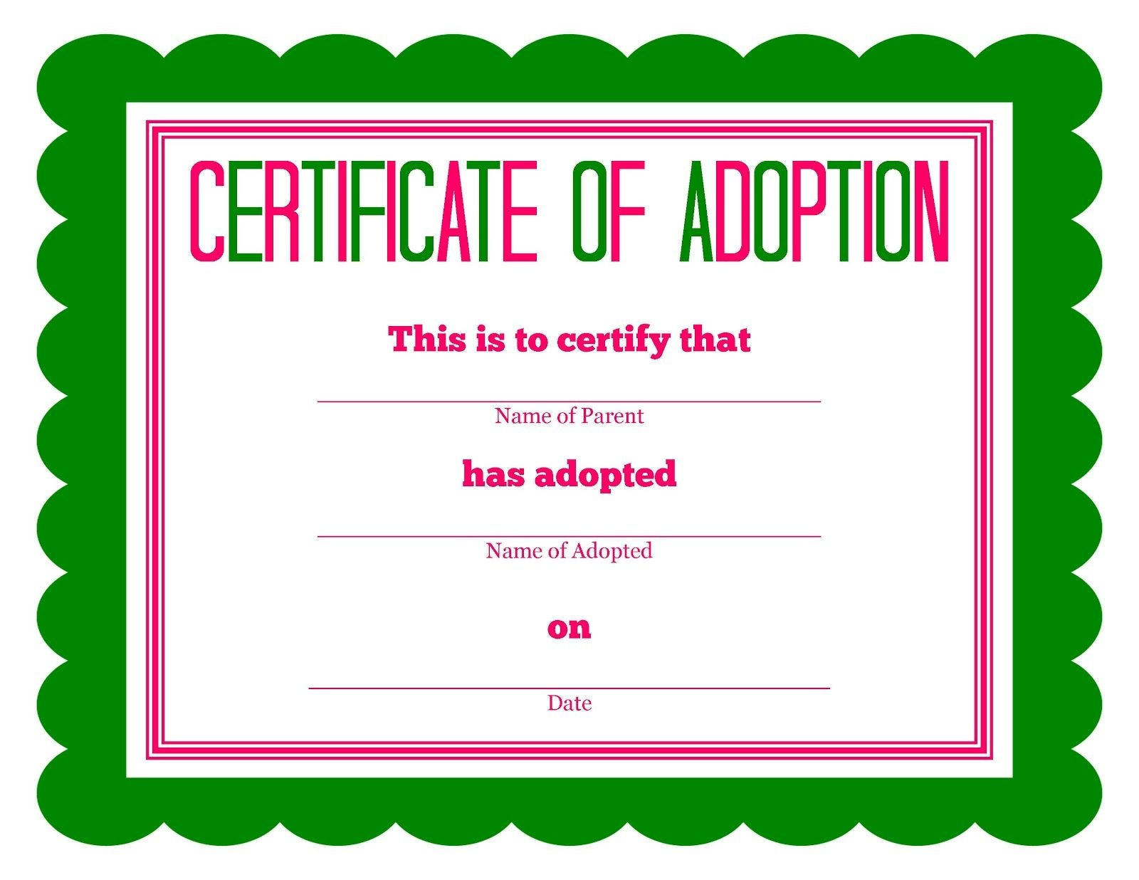 Free Printable Stuffed Animal Adoption Certificate | Free Printables - Free Printable Birth Certificates For Puppies