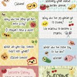 Free Printable Super Kawaii Lunchbox Notes   Free Printable School Notes