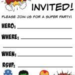 Free Printable Superhero Birthday Invitations | Birthdays   Printable Invitations Free No Download