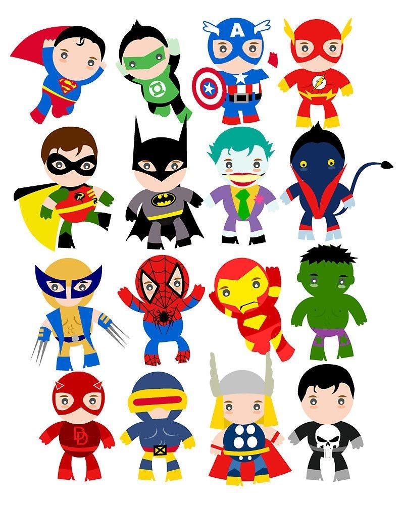 Free Printable Superhero Clipart   Ideias In 2019   Superhero Party - Free Superhero Printables