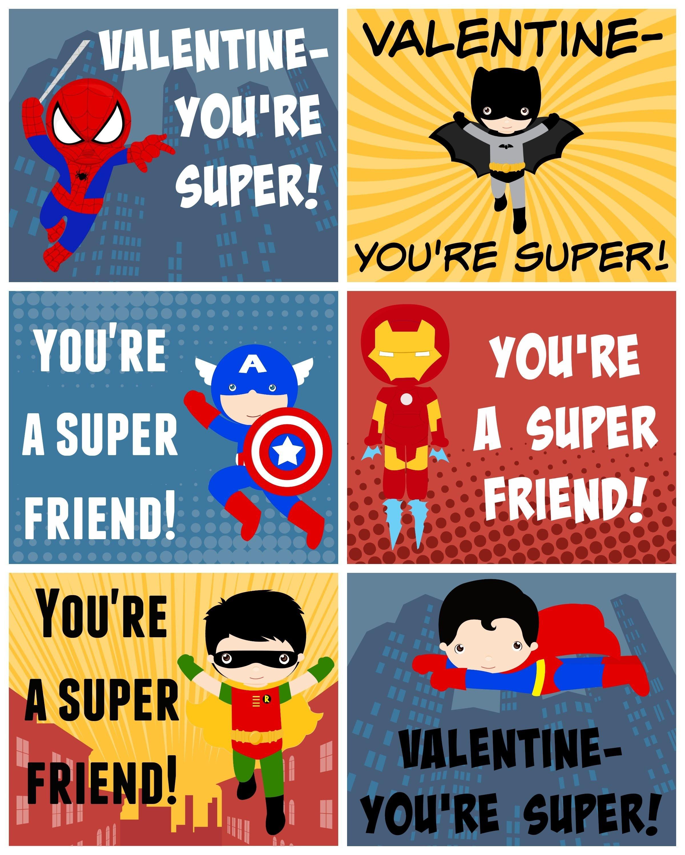 Free Printable Superhero Valentines   Bloggers' Best Diy Ideas - Free Superhero Printables