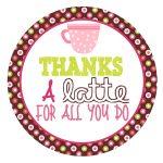 Free Printable Tag For Coffee Gift Card | Diy | Gift Ideas | Teacher   Thanks A Latte Free Printable Tag