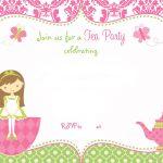 Free Printable Tea Party Invitation Template For Girl | Free   Free Printable Vintage Tea Party Invitations