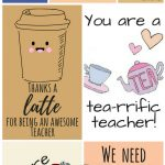 Free Printable Teacher Appreciation Thank You Cards | ✽ Back To   Free Printable Teacher Appreciation Cards