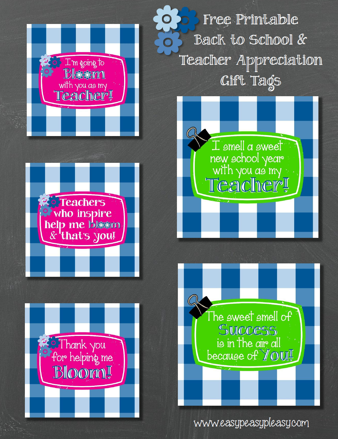 Free Printable Teacher Gift Tags And Gift Idea - Easy Peasy Pleasy - Free Printable Name Tags For Teachers