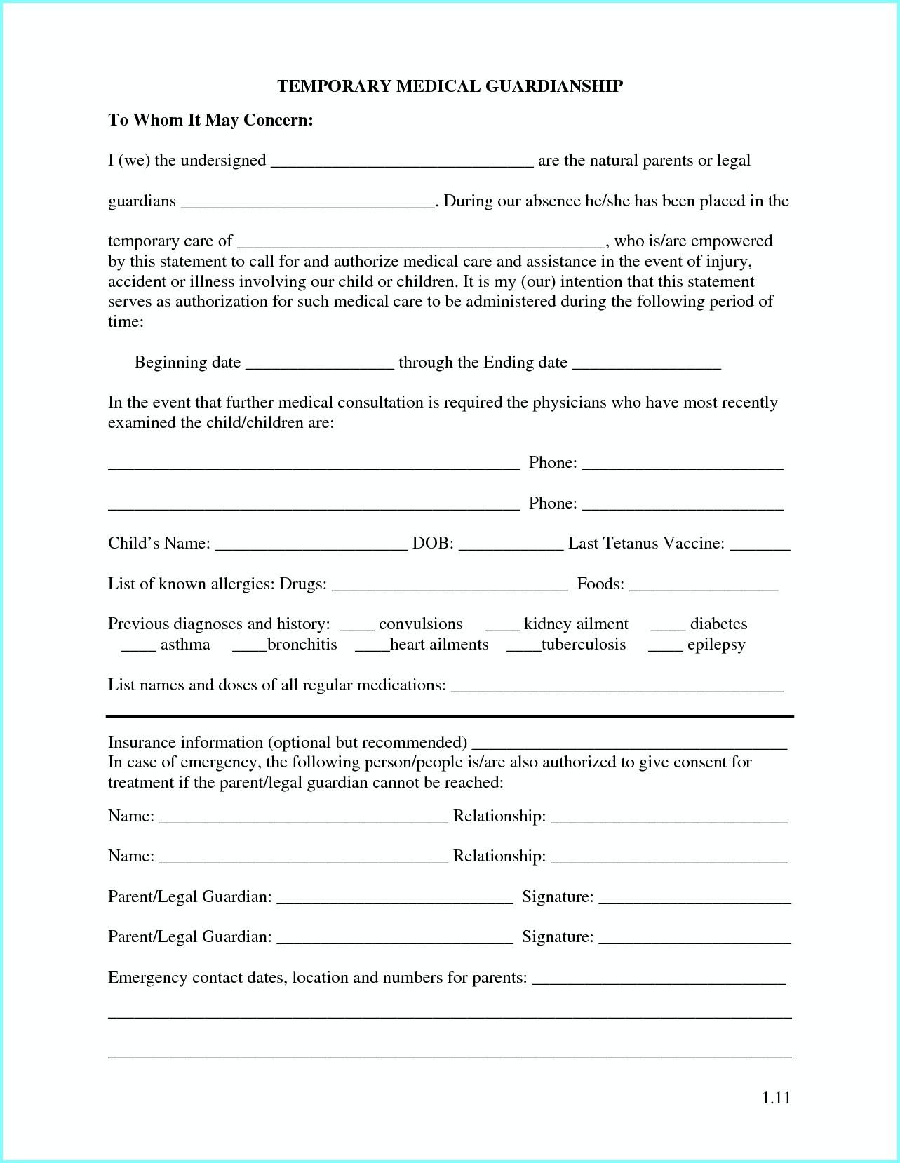 Free Printable Temporary Guardianship Forms - Form : Resume Examples - Free Printable Guardianship Forms Texas