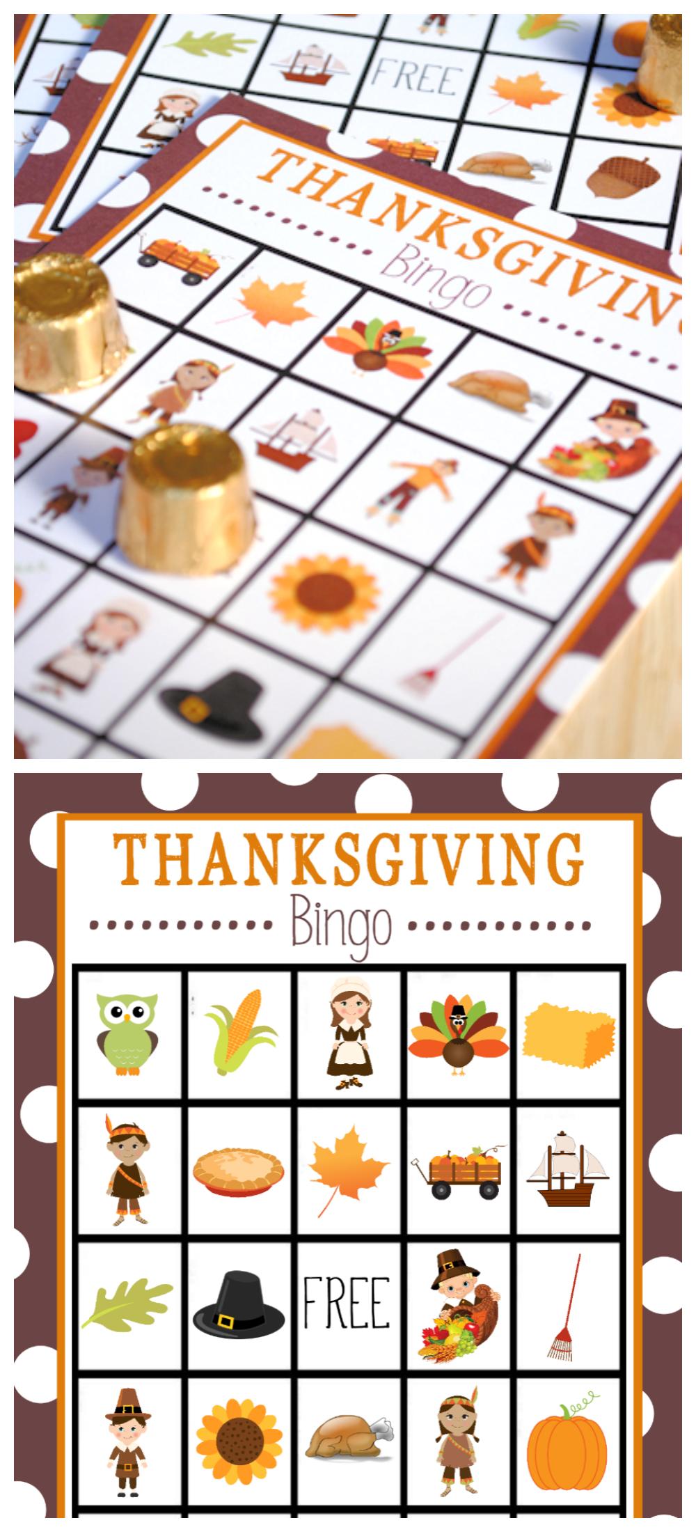 Free Printable Thanksgiving Bingo Game | Thanksgiving | Thanksgiving - Free Printable Thanksgiving Images