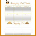Free Printable Thanksgiving Menu Planner | Free Printables   Free Printable Thanksgiving Menu Template