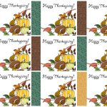 Free Printable Thanksgiving Place Cards    Also Great For Cupcake   Free Printable Halloween Place Cards