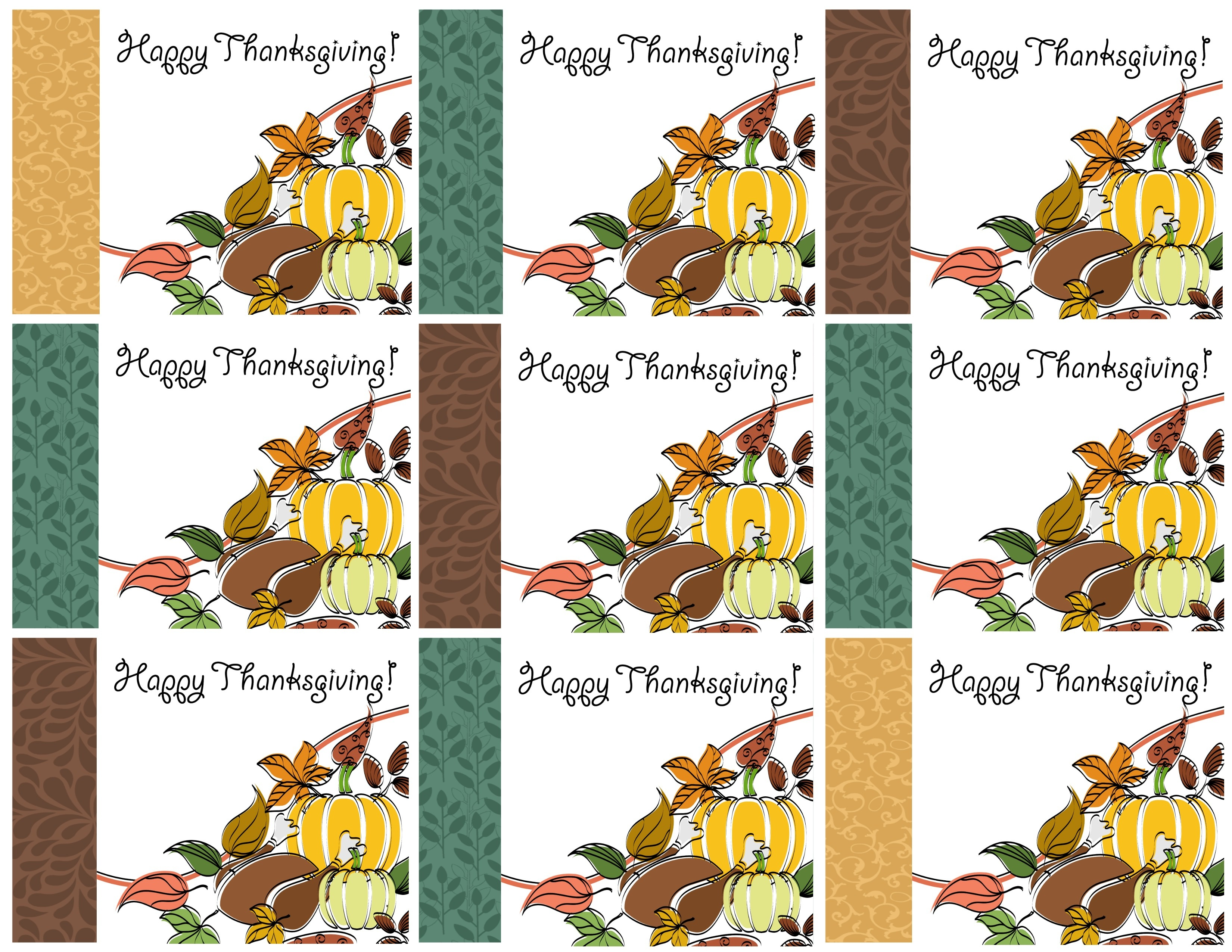 Free Printable Thanksgiving Place Cards -- Also Great For Cupcake - Free Printable Halloween Place Cards