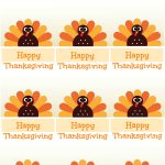 Free Printable Thanksgiving Place Cards    Also Great For Cupcake   Free Thanksgiving Printables Place Cards